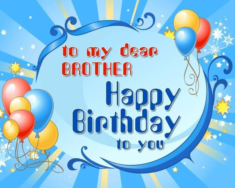 Happy Birthday Wishes To My Dear Brother