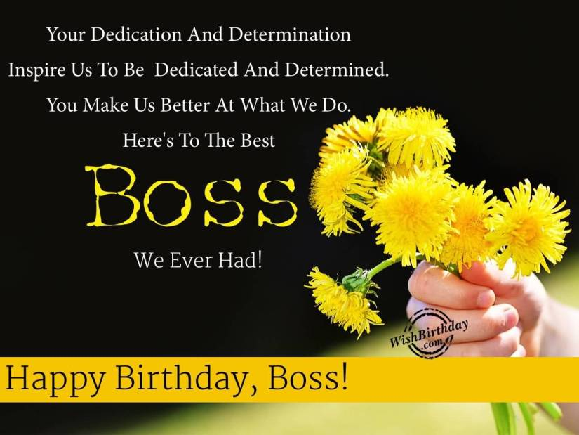 Have A Wonderful Birthday Boss Greeting Image