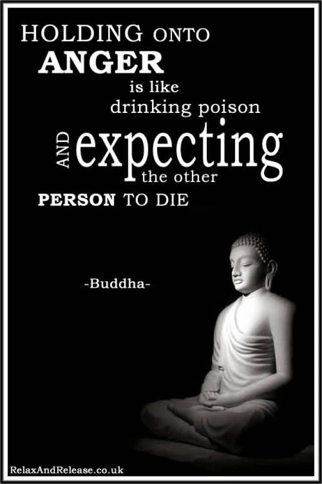 Holding Onto Anger Is Like Drinking Poison And Expecting The Other Person To Die Buddha