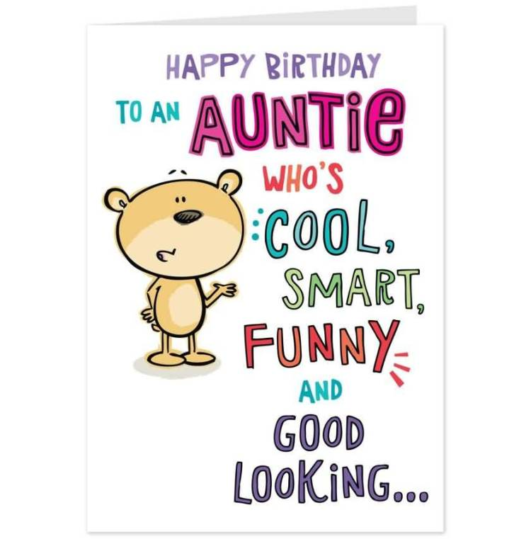 Homemade Birthday Wishes Card For Lovely Aunt