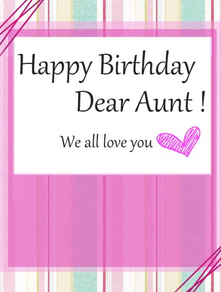 Homemade Birthday Wishes Card For Wonderful Aunt
