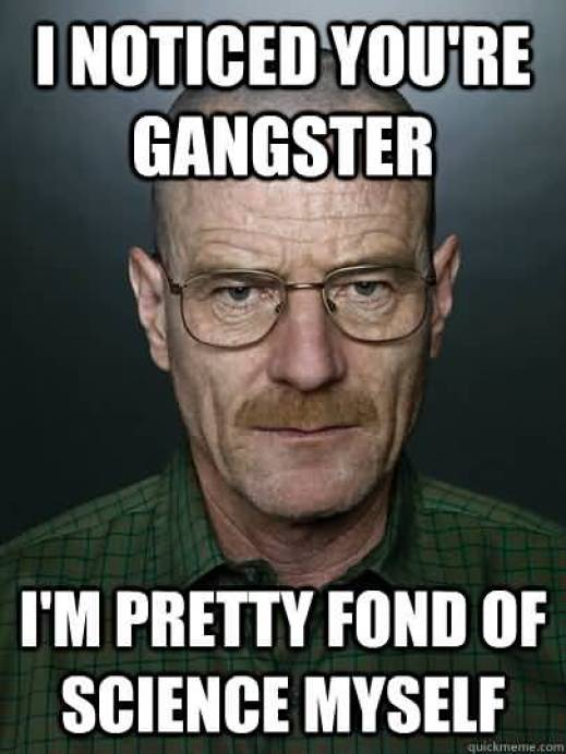 I Noticed You Are Gangster I Am Pretty Fond Of Science Myself Hilarious Gangster Meme Graphic