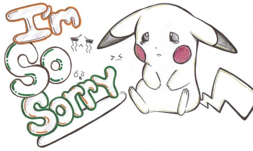 I'm So Sorry Pikachu Image
