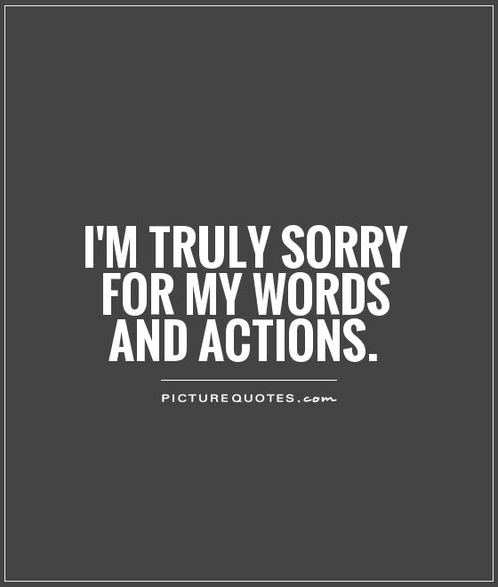 I'm Truly Sorry Quotes Image