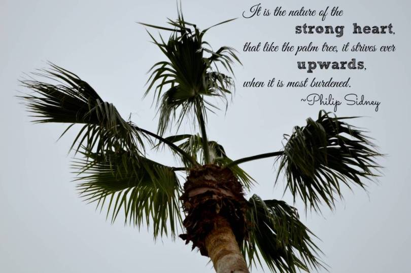 It is the nature of the strong heart that like the palm tree it strives ever upwards when it is most Philip Sidney