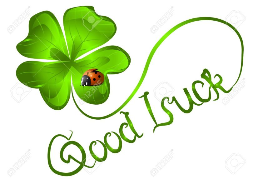 Leaf Good Luck Wishes Greeting Image