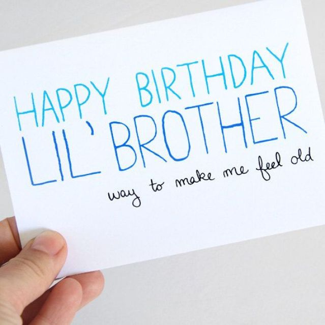 Little Brother Birthday Wishes Card Idea Image