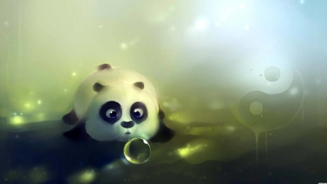 Little Giant Panda Hd Wallpaper