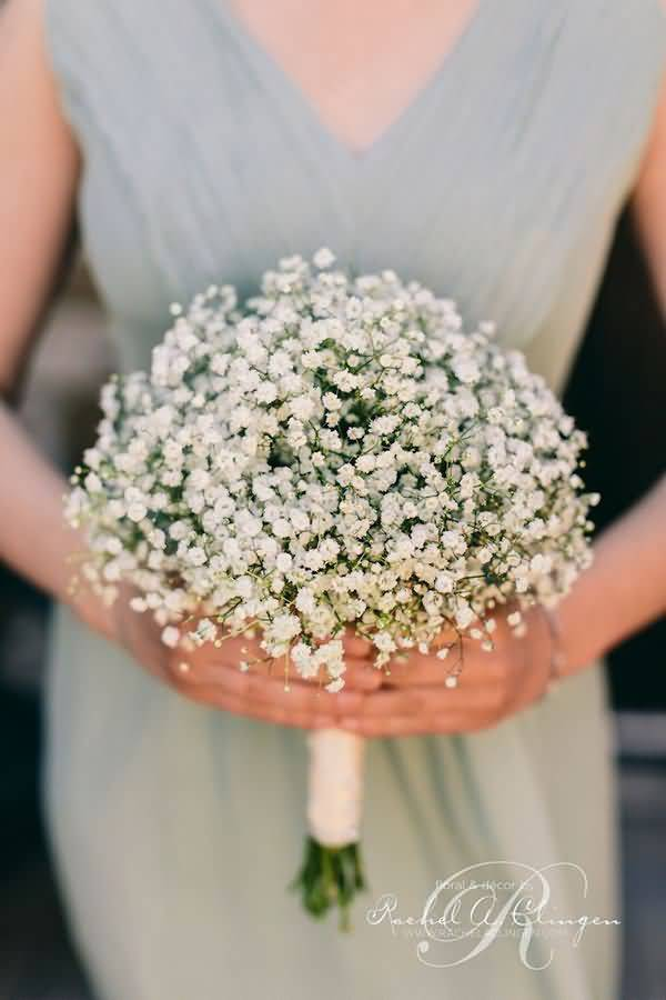 Lovely Baby's Breath Flower Bouquet For Marriage