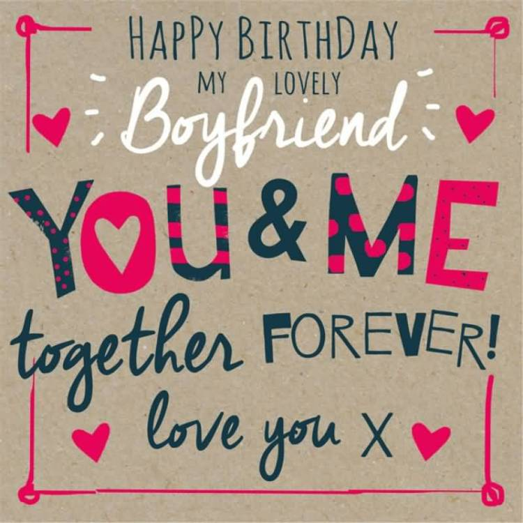 Lovely Boyfriend Birthday Wishes Card