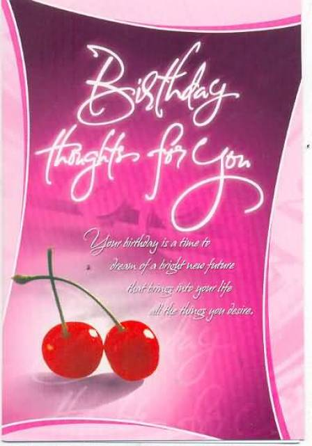 Lovely Happy Birthday Card For Wife