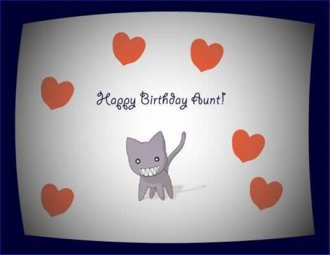 Lovely Happy Birthday Wishes Card For Aunt