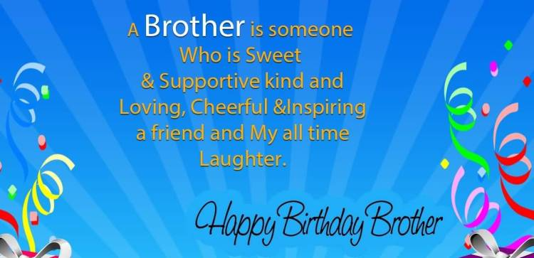 Loving Cheerful Happy Birthday Brother