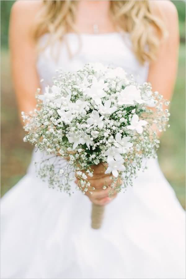 Most Beautiful White Baby's Breath Flower For Marriage