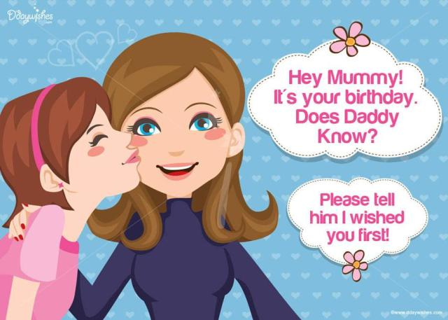 Mummy Birthday Greeting From Daughter Image