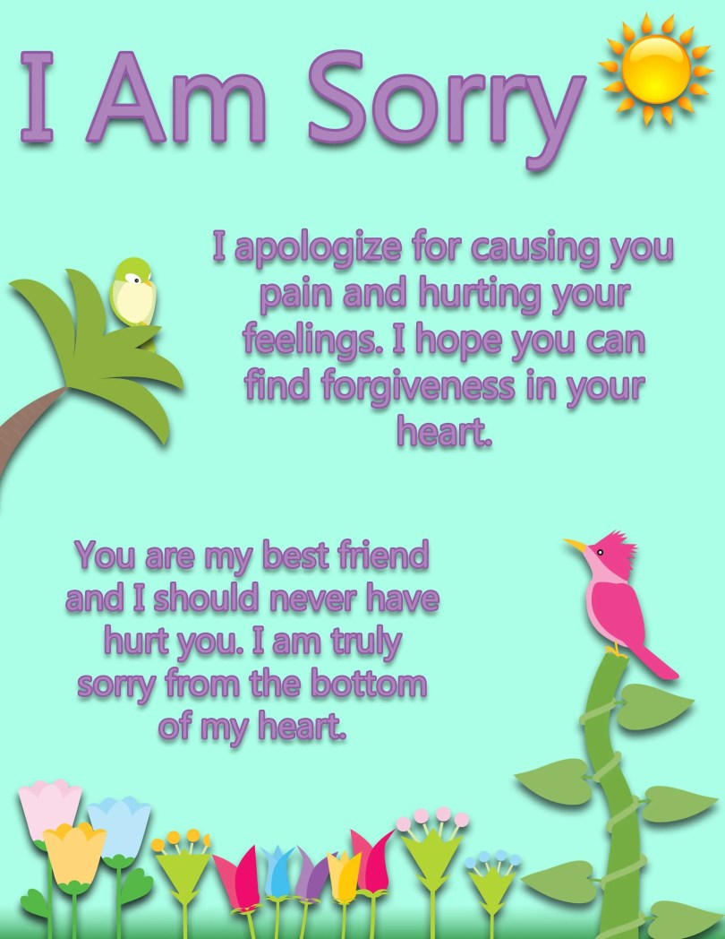 My Best Friend Sorry Quotes Image