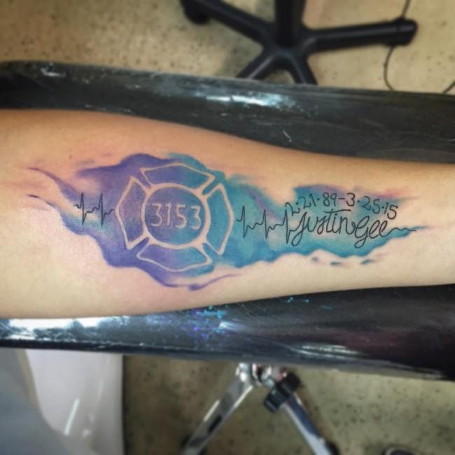 Nice 3153 Heartbeat Tattoo Justin Tattoo For Men Lower Arm