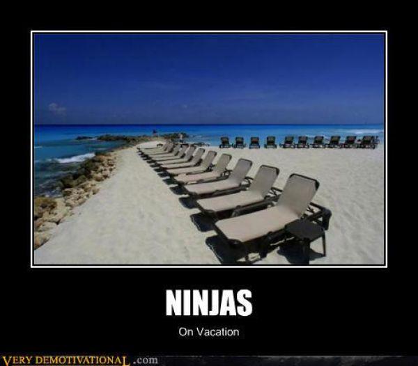 Ninja On Vacation Funny Ninja Memes