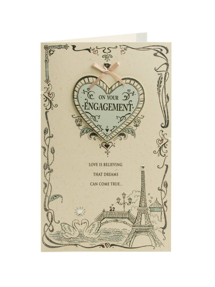On Your Engagement Love Is be Greeting Card