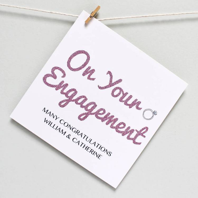 On Your Engagement Wonderful Greeting Card