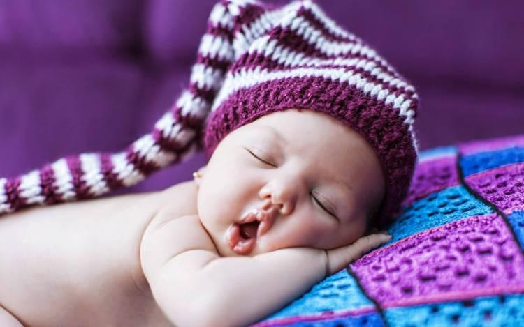 Open Mouth Sleeping Baby Hd Wallpaper