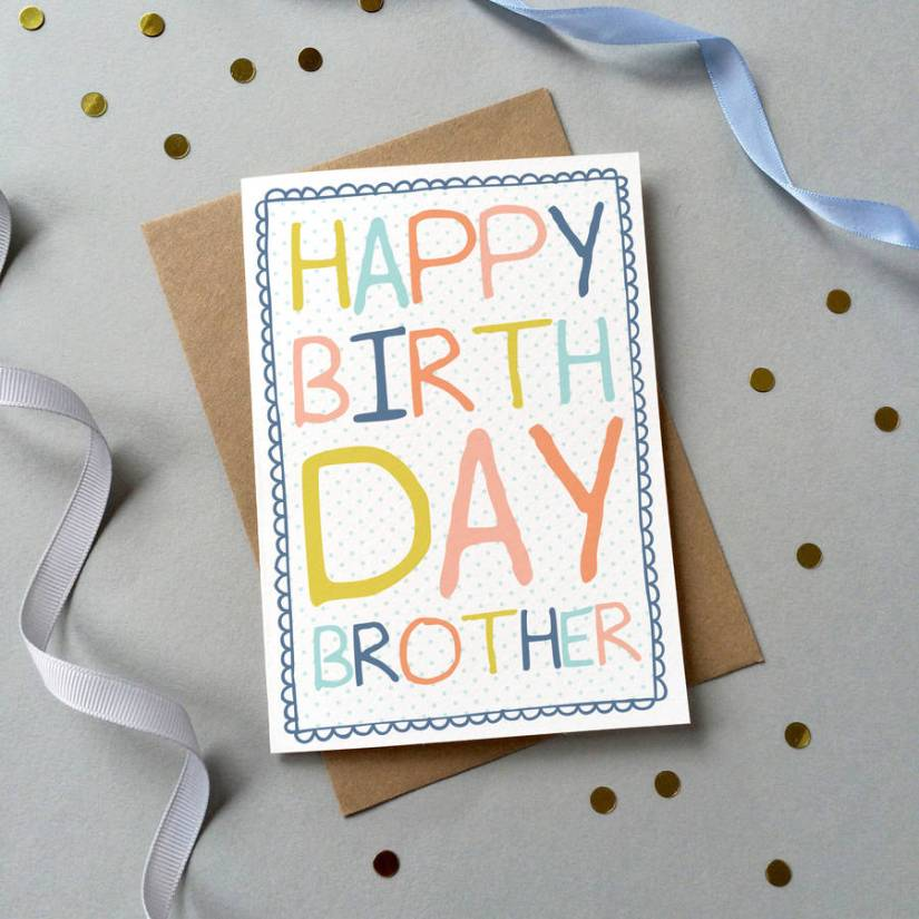 Perfect Handmade Happy Birthday Greeting Card For Brother