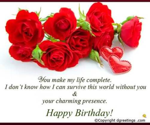 Red Roses Birthday Wishes For Wife