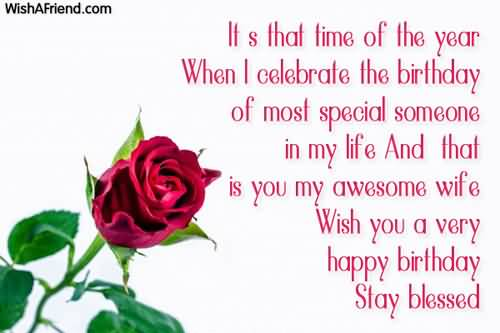 Special Birthday Bless For Wife