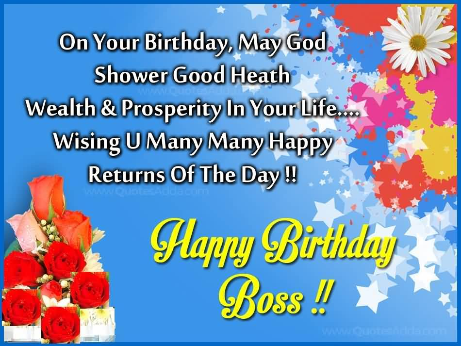 32 Wonderful Boss Birthday Wishes Sayings Picture Photo – Special Birthday Greeting