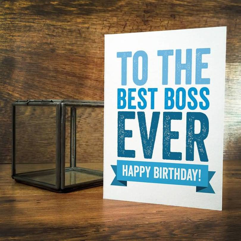 Special Birthday card For Boss