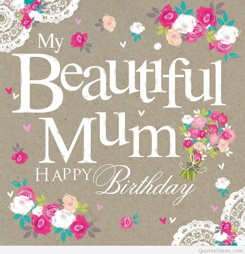 Stay Blessed And Keep Smiling Happy Birthday Mom Card