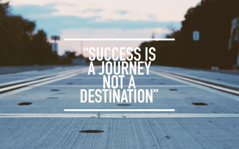 Success is a journey, not a Ben Sweetland