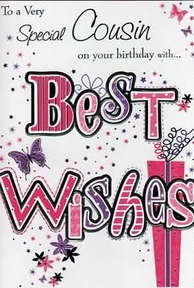 Super Birthday Wishes Card For Best Cousin