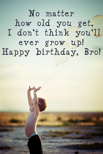 Sweet Little Brother Happy Birthday Quotes Image