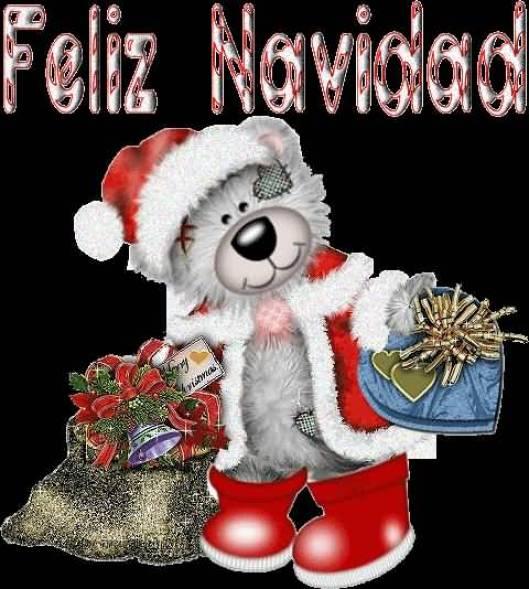 Teddy Greetings Merry Christmas