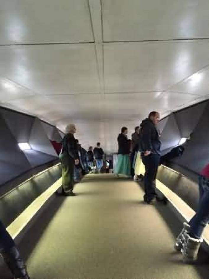 The Gateway Arch Inside View With People