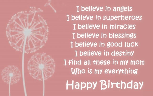 To My Angel Mom Happy Birthday Quotes