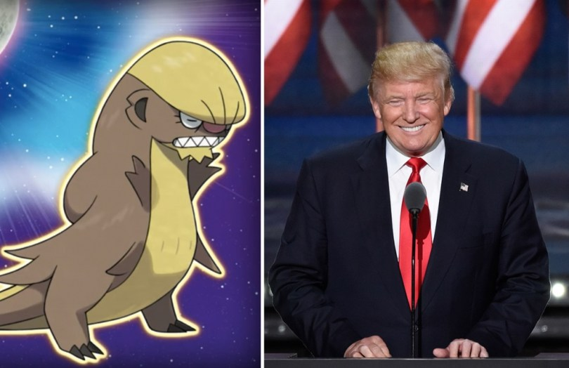 Trump Look Alike With Which Pokémon