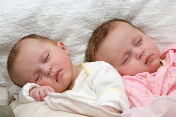 Twin Baby Sleeping Image
