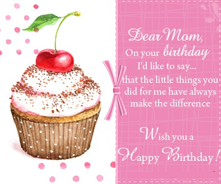 Wish You A Happy Birthday Dear Mom