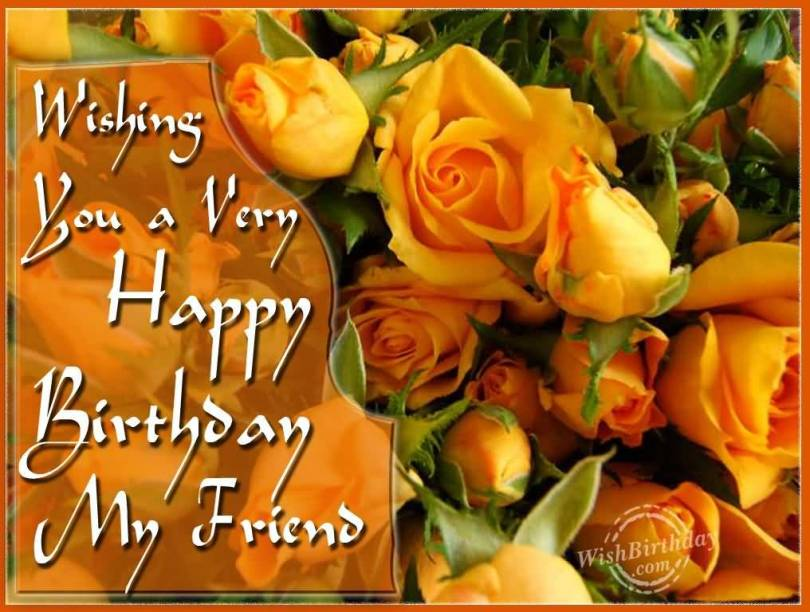 Wishing You A Very Happy Birthday My Friend Greeting Flower Picture