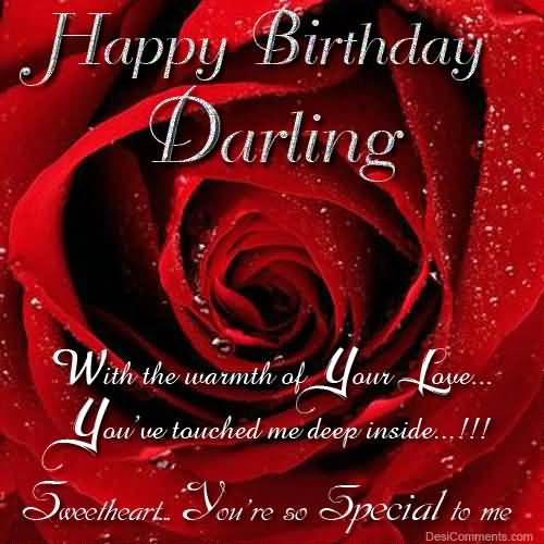 With The Warmth Of Your Love Happy Birthday Darling