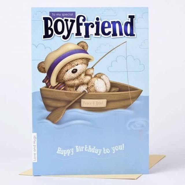 Wonderful Boyfriend Happy Birthday Wishes Card