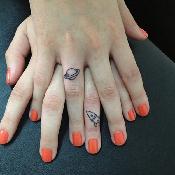 Amazing Impressive Finger Tattoo Designs With Black Ink For Man And Woman