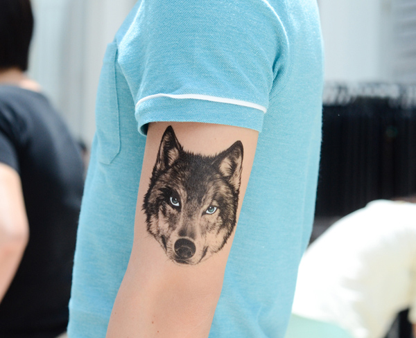 Beautiful Wolf Temporary Tattoo For Man Woman