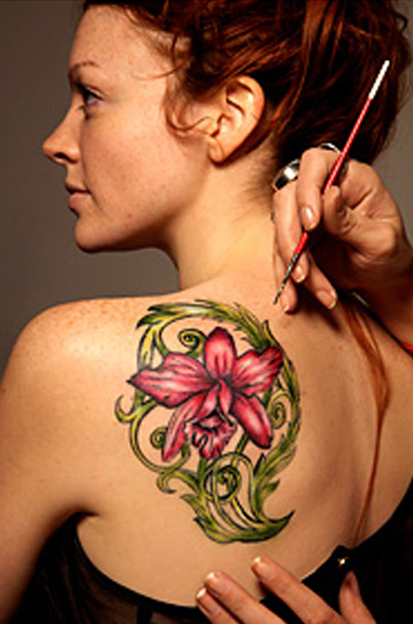 Best Cool Flower Custom Temporary Tattoo Ideas Image For Man Woman