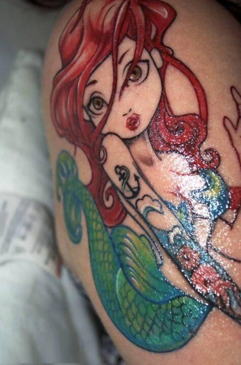 Mermaid Anchor Tattoo