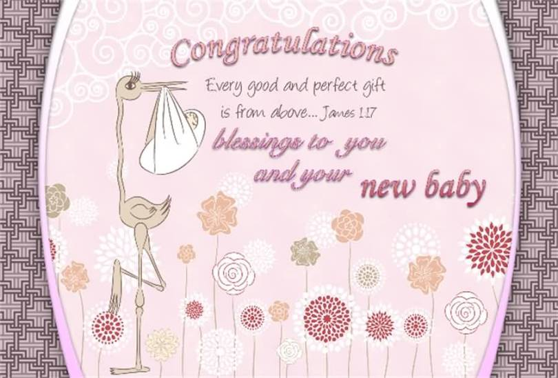 Congratulations Every Good And Perfect Gift Is From Above To You And Your New Baby