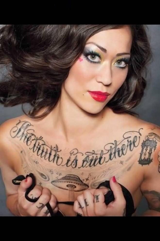 cute gray color ink wording and Alien Ufo Tattoo for women Alien Women Tattoo