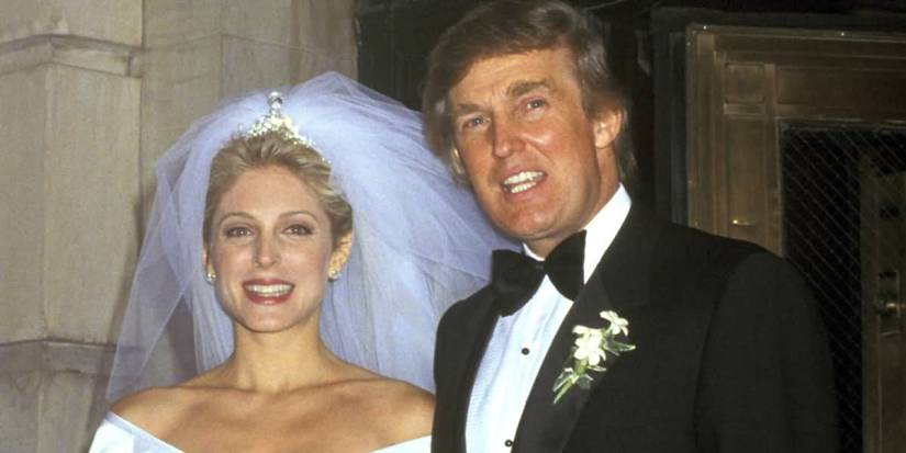 Donald Trump With Beautiful Wife Marla Maples